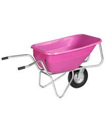 Big Ben Einradkarre pink, Gestell verzinkt, 260 Liter