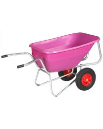 Big Ben Zweiradkarre pink, Gestell verzinkt, 260 Liter