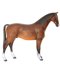 Pferd aus Kunststoff, lebensgroß