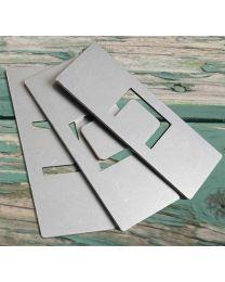 silo-safeline Metallplatten, 25 Stück