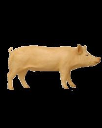 Schwein aus Kunststoff, lebensgroß